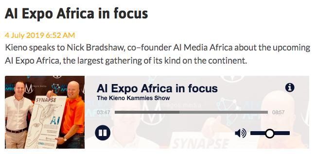 AI Expo Africa on cape talk show