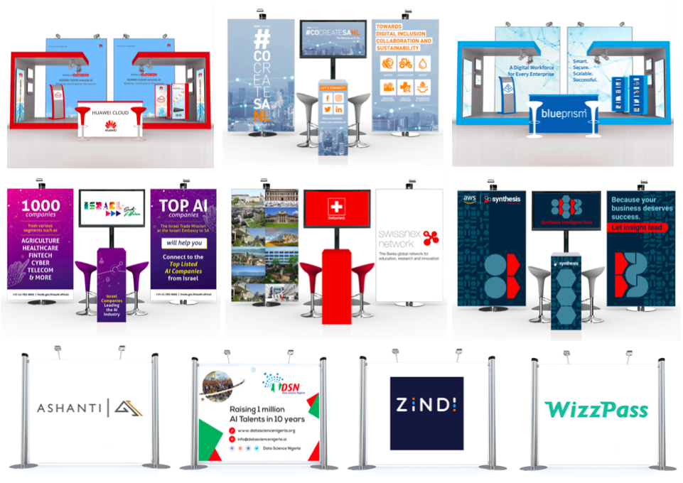 AI Expo Africa 2020 ONLINE Booth Examples