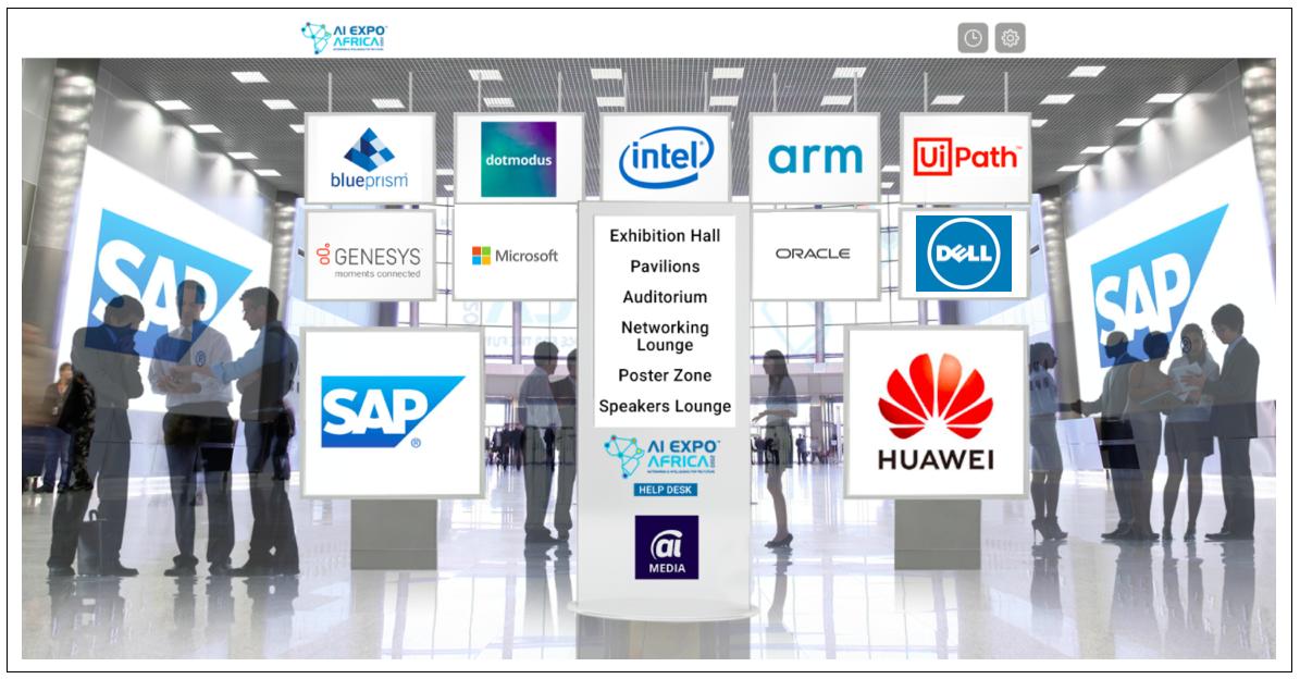 AI Expo Africa 2020 ONLINE Lobby Design