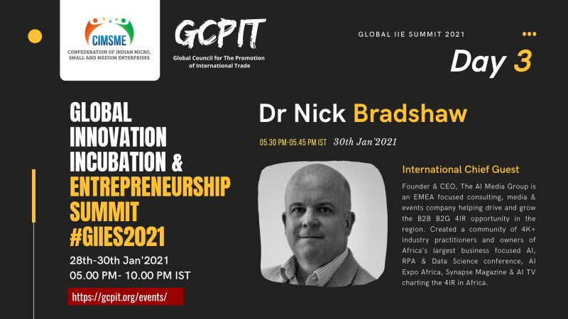 GIIE SUMMIT AI Media Group CEO Dr Nick Bradshaw AI Expo Africa